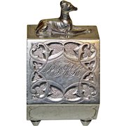 Sterling American Napkin Ring with Figural Dog, c.1875