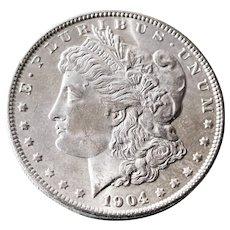 1904 O Brilliant Uncirculated Morgan Silver Dollar (BU)