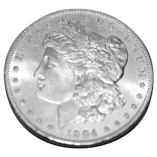 1904 O Brilliant Uncirculated Morgan Silver Dollar