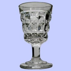 """""""Double Disced Prism"""" Goblet, Early American Pattern Glass - Rare"""
