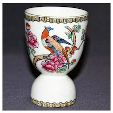 Vintage Porcelain Double Egg Cup with Indian Tree Pattern
