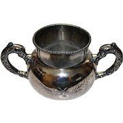 Antique Silverplate Two Handled Sugar Container By Empire