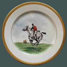 Vintage Equestrian Hunt Plate # 4, Heinrich & Co., Selb, Bavaria