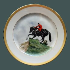 Vintage Equestrian Hunt Plate # 1, Heinrich & Co, Selb, Bavaria