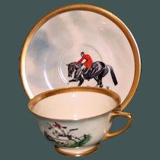 Vintage Equestrian Hunt Cup & Saucer Set Five
