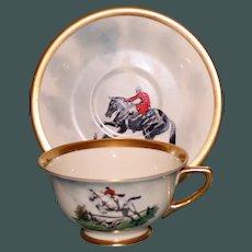 Vintage Equestrian Hunt Cup & Saucer Set Three