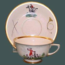 Vintage Equestrian Hunt Cup & Saucer Set Two