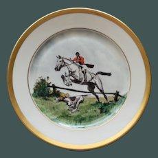 Vintage Equestrian Hunt Plate # 6, Heinrich & Co., Selb, Bavaria