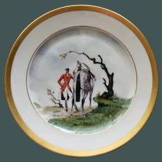 Vintage Equestrian Hunt Plate # 2, Heinrich & Co., Selb, Bavaria