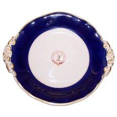 "Heraldic Plate, Cobalt Border, Family Motto ""Faitz Proverount"""
