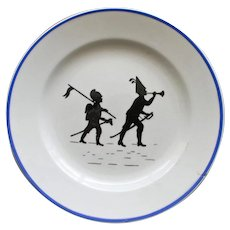 Villeroy and Boch Vintage Child's  Plate with Silhouettes