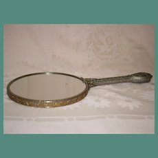 Vintage Filigree Double Mirror with One Side Magnifying