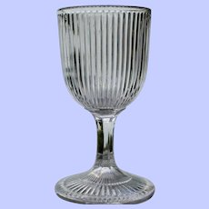 """Fine Rib"" Goblet, Early American Pattern Glass"