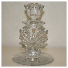Finial Glass Candlestick