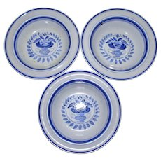 Arabia Blue Rose Fruit Bowl