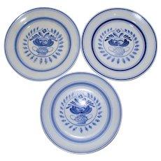 Arabia Blue Rose Butter Plate