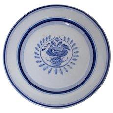 Arabia Blue Rose Salad Plate or Dessert Plate
