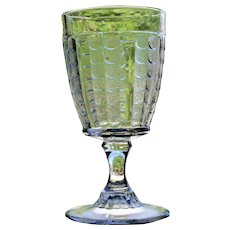 """""""Fishscale"""" Goblet, Early American Pattern Glass"""