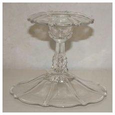 Flared Trumpet Flower Glass Candlestick