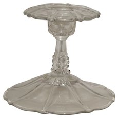Flared Trumpet Flower Glass Candlestick