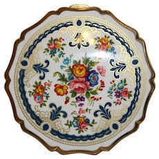 Floral Enamel Stratton Compact