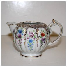 Cream Pitcher with All-over Flower Sprigs