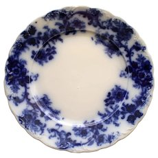 "Antique Flow Blue English Plate, ""Sydney"""