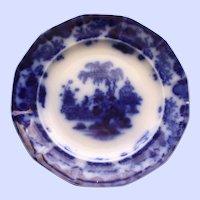 "Antique Alcock Flow Blue Plate ""Scinde"""