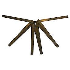 Antique Meter Long Brass Folding Ruler