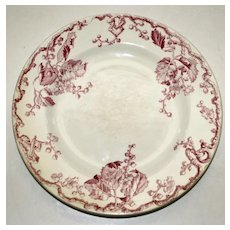 """Antique Keller & Guerin Luneville French Plate in """"Fontainebleau"""" Pattern"""