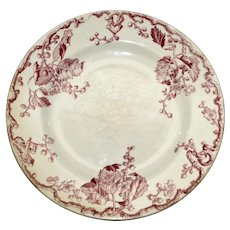 "Antique Keller & Guerin Luneville French Plate in ""Fontainebleau"" Pattern"