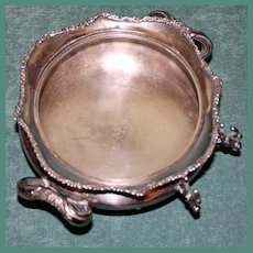 Antique Forbes Silverplate Butter Dish