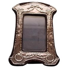 Vintage Sterling English Standing Picture Frame