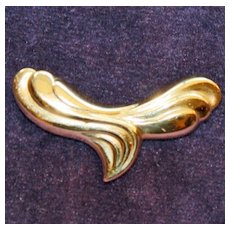 14 K Gold Slide for an Omega, Sculptured,  1.75 Inches Long