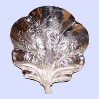 Antique Silverplate Punch Ladle, Exquisitely Decorated with Grapes, American Silver Co.