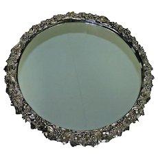 "1853 Large 17.5"" Antique English Silver Plate Grapes Plateau by Elkington"