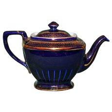 Hall vintage Cobalt 6 Cup Tea Pot