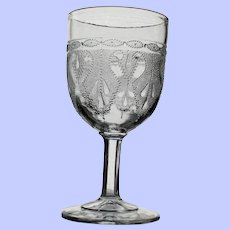 """Heart"" Goblet, Early American Pattern Glass"