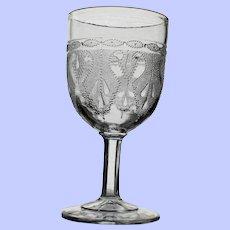"""Heart"" Goblet, Early American Pattern Glass"