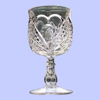 Heart with Thumbprint Goblet, Early American Pattern Glass (EAPG)