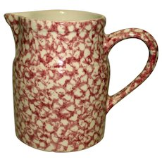 Gerald Henn Pink Rose Spongeware Pitcher  6 Inches Tall