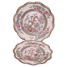 "Two Vintage Coalport ""Indian Tree"" Plates"
