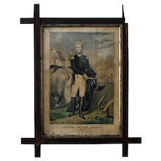 General Andrew Jackson at New Orleans Antique Print by N. Currier