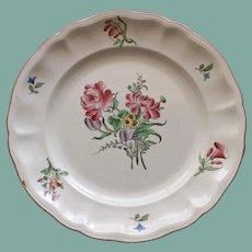 Antique French Faience Keller & Guerrin (K et G) Luneville Rose Bouquet Plate