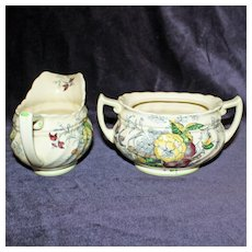 "Royal Doulton ""The Kirkwood"" Sugar and Creamer"