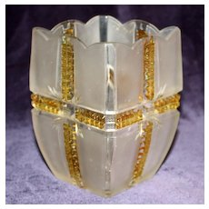 Klondike Gold Frosted Celery Dish, EAPG - Nice Piece in This Choice Pattern