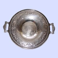 Antique Knickerbocker Silver Plate Tray with Handles