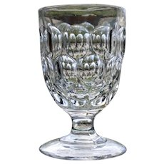 """Krom"" Flint Goblet, Early American Pattern Glass (EAPG), 1830's"