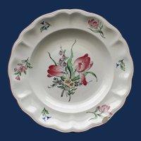 Antique French Faience  Keller & Guerrin (K et G) Luneville Tulip Plate