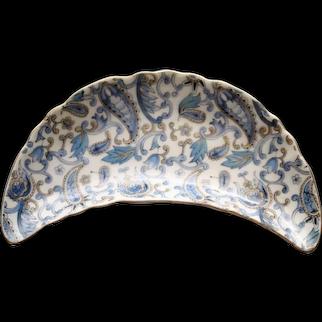 Vintage Lefton Blue Paisley Bone Dish, NE 2347